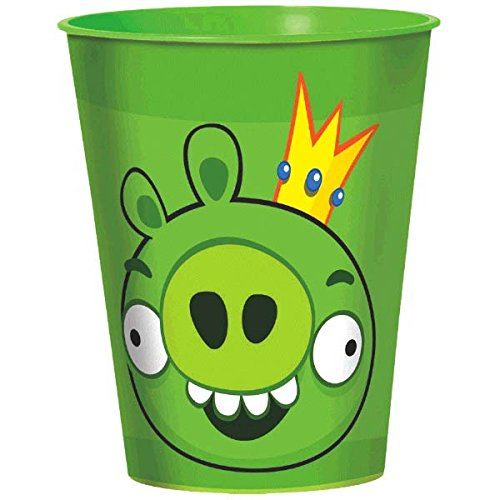 Amscan Fun-Filled Angry Birds Birthday Party Favour Cup, 16 oz, Green]()