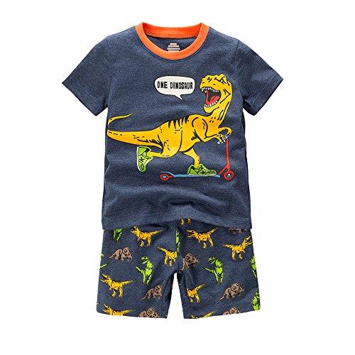 B GKAKA Toddler Pajamas Bulldozer Summer