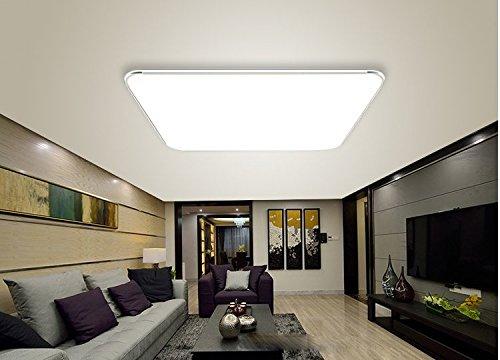 36w Kaltweiss Led Modern Deckenlampe Ultraslim Deckenleuchte Schlafzimmer Kuche Flur Wohnzimmer Lampe Wandleuchte Energie Sparen Licht Silber 36w