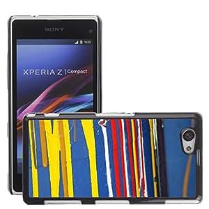Etui Housse Coque de Protection Cover Rigide pour // M00151118 Pintura creativa de color de fondo // Sony Xepria Z1 Compact D5503