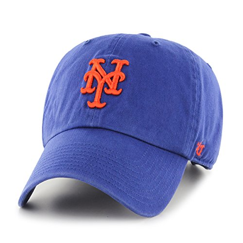 MLB New York Mets '47 Clean Up Adjustable Hat, Royal, One Size -