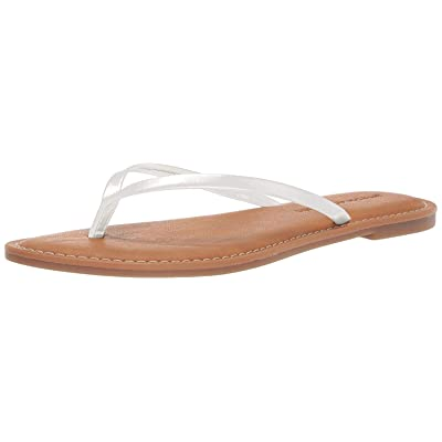 Essentials Women's Thong Sandal, White, 12 B US: Clothing