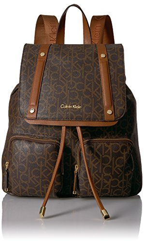 Calvin Klein Teodora Monogram Flap Backpack by Calvin Klein