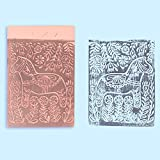 "SGHUO 12 Pcs 4"" x 6"" Pink Rubber Carving Blocks"