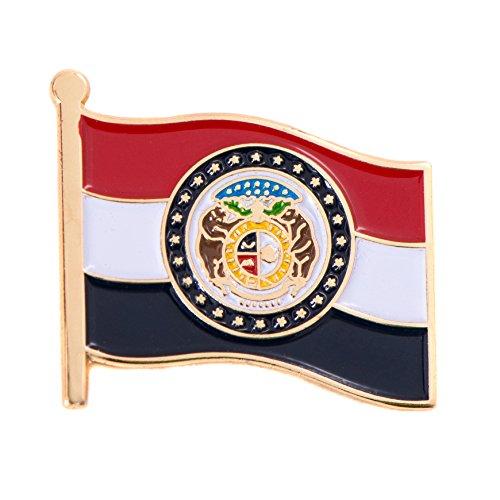 Missouri State Flag Lapel Pin Made of Metal Souvenir (Waving Flag Lapel - Miami Florida The Falls
