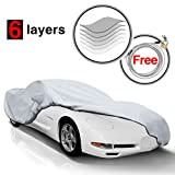 KAKIT C5 Car Cover for Chevy Corvette C5 1996-2004, 6 Layers All Weather Waterproof, Windproof, Dustproof, Scratch Proof, Car Cover for Corvette C5, Free Windproof Ribbon