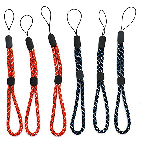 Rugjut 6 PCS Adjustable Wrist Straps Hand Lanyard for Phone Keys