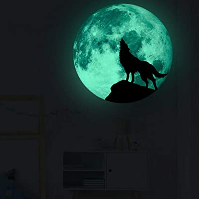 Glow in The Dark 3D Wolf Wall Stickers for Kids Bedroom and Room Ceiling Gift Beautiful Glowing Wall Decals by Samoii: Baby