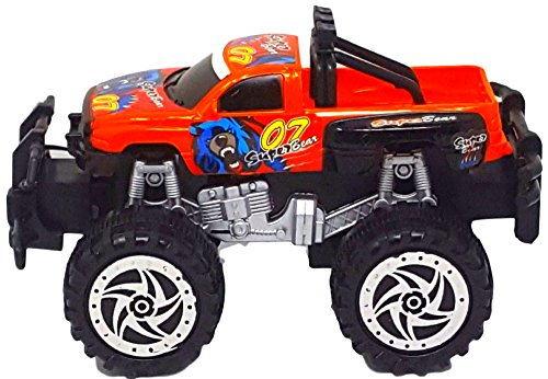 R&R Toys and Things Toy Trucks For Boys Big Wheel Super Power Pickup Truck For Kids Makes An Awesome Birthday Present For Ages (3 Wheel Pickup)