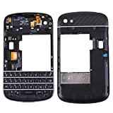 iPartsBuy 3 in 1 for BlackBerry Q10 (Keyboard + Middle Frame Bezel + Back Plate Housing Camera Lens Panel) Full Assembly Housing Cover