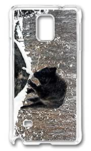 Adorable black wolf Hard Case Protective Shell Cell Phone For Case Samsung Note 3 Cover - PC Transparent