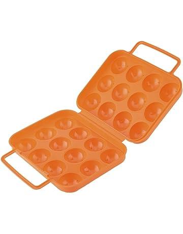 aihometm portátil de plástico plegable caja de 12 huevos Carrier caso Picnic huevos contenedor portátil Holder
