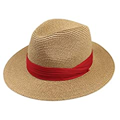 DRESHOW Straw HatWhat happens when you combine classic design and a trendy accessory? Amazing versatility!It's hard to imagine women and girls not wearing something on her head ?after all, the women panama hat has been part of her starting of...