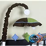 GEENNY Musical Mobile, Boutique Blue/Brown Diamond