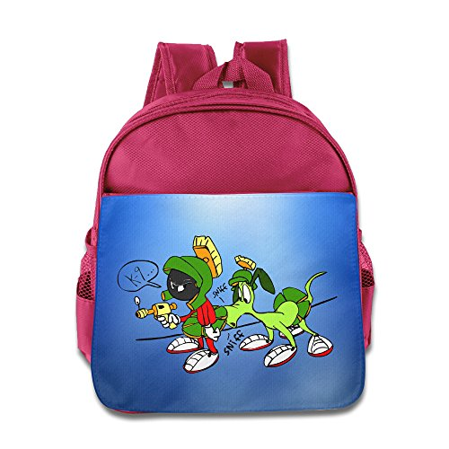 Price comparison product image Custom Martian And Rabbit Cute Boys And Girls School Bagpack Bag For 1-6 Years Old Pink