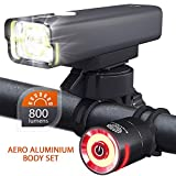 BrightRoad USB Rechargeable Bike Light: Super Bright 800 Lumens Front Bicycle Flashlight With
