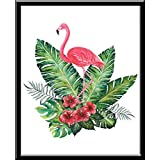 Flamingo Geométrico Flamenco Animal Rosa Cuadro decorativo Print Animales Niña Regalo Arte Poster Cuadro Decorativo Art Wall Art Vintage Decor Home Decor Decoración Retro Hipster Cool