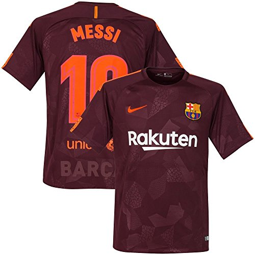 Barcelona 3rd Messi Jersey 2017 / 2018 (Official Printing) - S by NIKE