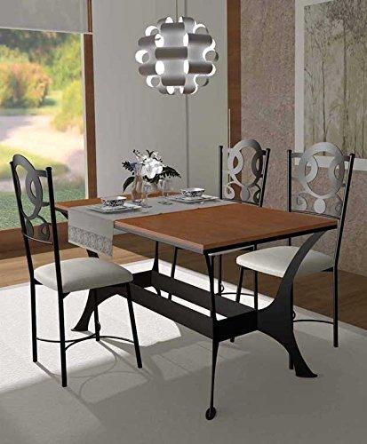 Decoración Beltrán tavoli di Sala da Pranzo in Ferro battuto e legno ...