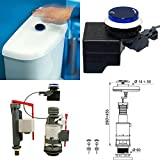 Wirquin Jollytronic No Touch Hands Free Infrared Universal Toilet Cistern Fitting Kit Bottom Supply