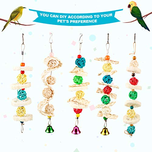 S-Mechanic 40 Pieces Parrot DIY Chew Toys Set,Parrots Beak Parts a Unique Creative Craft Chewing Toys Suitable for Parakeet,Conures, Mini Macaw, Lovebirds,Finch Chewing and Playing (Style-1)