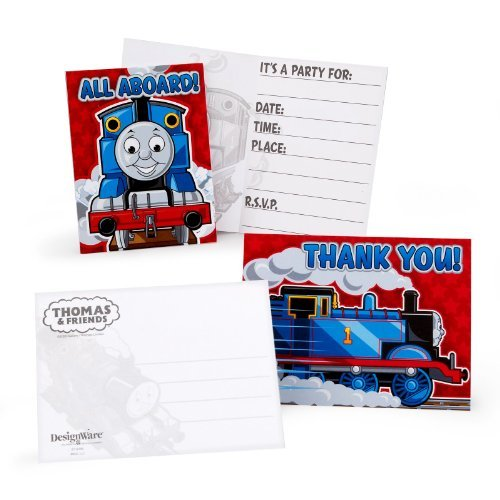 Thomas the Tank 'Party' Invitations and Thank You Notes w/ Envelopes (8ct ea.)]()
