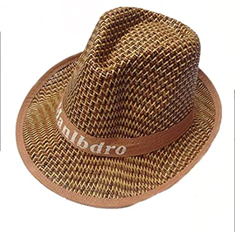 4c6116f2 DNSJB Western Cowboy Straw Hat, Summer Outdoor Climbing Fishing Sunscreen  Fisherman Hat Big Eaves Breathable