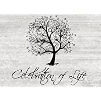 """Celebration Of Life: Funeral Guest Books, Blank Lined Guest Book For Memorials & Funerals, (8.25"""" x 6"""" Paperback)"""