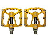 Willyn 3 Bearings Lightweight MTB CNC Mountain Cycling Bike Pedals JT32&33 (yellow with black)