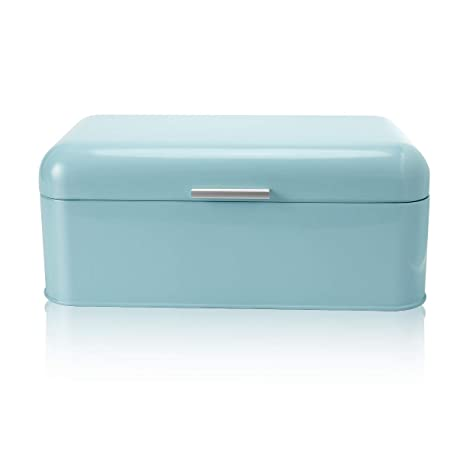 Turquoise Bread Box Cool Amazon SveBake Bread Box For Kitchen Retro Design Carbon Steel