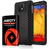 Samsung Galaxy Note 3 Battery/JUBOTY 7200mAh Extended Li-ion Battery & Black Back Cover & TPU Case for Note 3 N9000 N9005 N900A N900V N900P N900T(24 Month Warrantly)