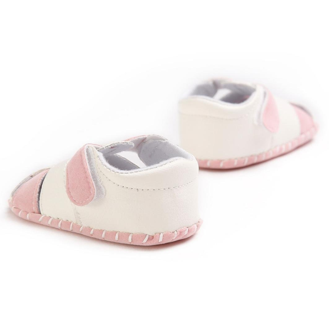 WARMSHOP Toddler Princess Girls Splicing Soft Leather Baby First Walker Newborn Shoes Sandals