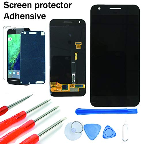 (KNONEW Screen Replacement for Google Pixel Glass LCD Display Touch Digitizer Assembly + Tools(Black) )