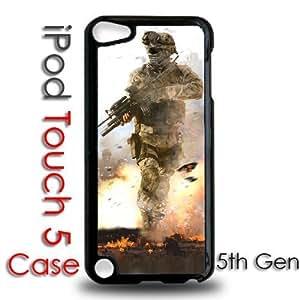 For LG G2 Case Cover Black Plastic Case - Call of Duty Modern Warfare 4