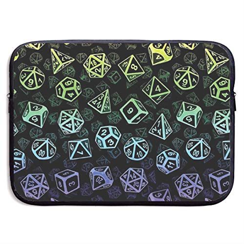 D20 Dice Set Pattern Rainbow Laptop Sleeve Case Bag Cover Computer for 13 Inch -