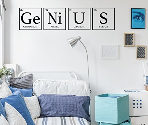 Periodic Table Lab - Children Wall Decor - Genius - Periodic Table Decoration - Removable Vinyl Decal For Teen's Bedroom, Playroom Or Study Area