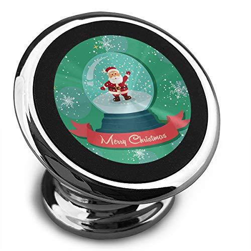(Magnetic Phone Holder for Car Santa Snowball Snowflakes Car Phone Mount)