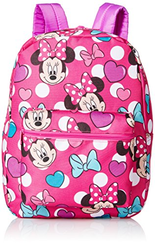 Disney Little Girls Minnie Mouse Print Backpack, Pink, One Size