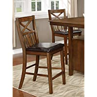 NHI Express Wood Counter Height Chair, Set of 2