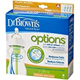 Dr Brown's Natural Flow Wide Neck Options 270mL Bottle 3-Pack (with Level 1 Teat)