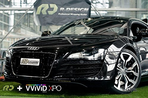 VViViD Black High Gloss Realistic Paint-Like Microfinish Vinyl Wrap Roll XPO Air Release Technology (6ft x 5ft) by VViViD (Image #7)