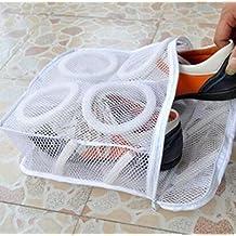SOURBAN White Washing Machine Shoes Laundry Bags Dry Shoe Storage Organizer Bags