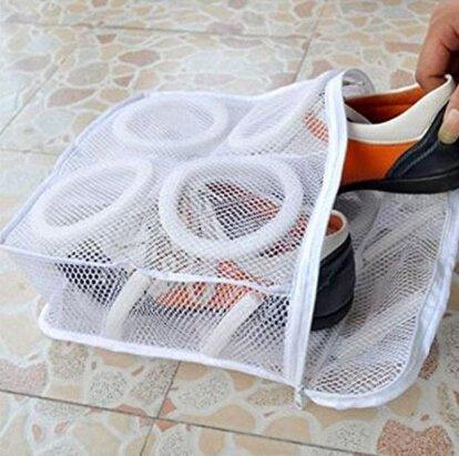 c374b52daaa2e Amazon.com: SOURBAN White Washing Machine Shoes Laundry Bags Dry ...