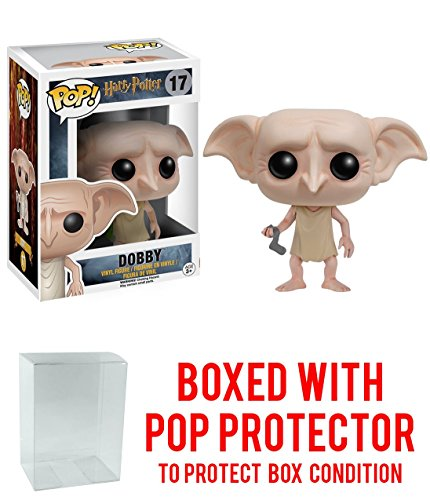 Funko POP Movies: Harry Potter Action Figure - Dobby with Free Pop Protector!