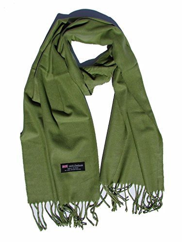 Olive Green_Scarves Warm THICK WINTER Scarf SOLID Scotland Wool (US - Polo Egypt Us