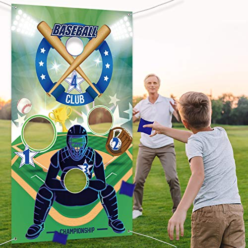 Baseball Toss Games with 3 Bean Bags, Indoor Outdoor Fun Game Set for Children and Adults Sport Theme Party Decorations Suppliers