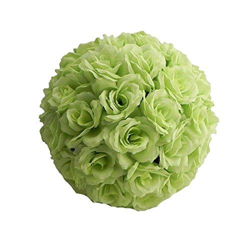 Jiangsheng Artificial Rose Flower Kissing Ball Wedding Party Home Decoration (Diameter 25CM(9.84