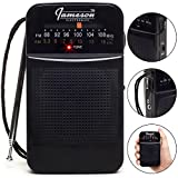 AM // FM Portable Pocket Radio with Best Reception - Small Battery Operated Personal Transistor
