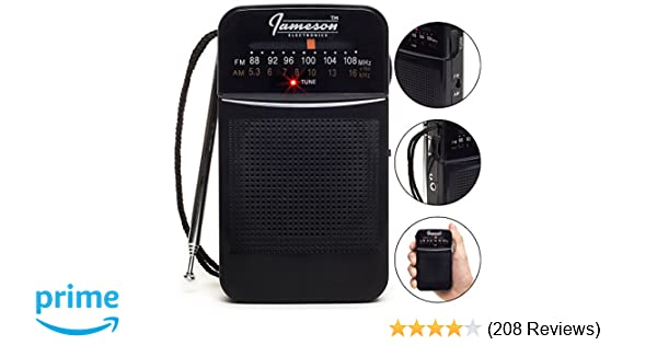 amazon com am fm portable pocket radio with best reception