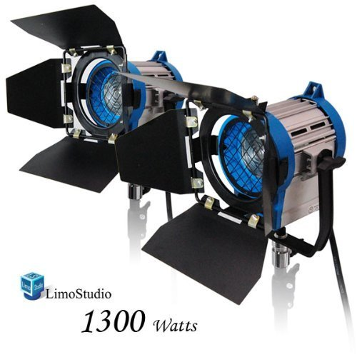 LimoStudio 1300 Watt Photography Photo Video Studio, Film and Television Tungsten Fresnel Continuous Lighting Light Spotlight, 650 Watt, AGG2482 by LimoStudio